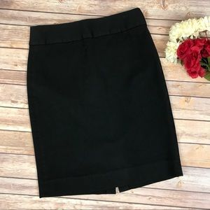 Banana Republic Black Career Pencil Skirt Sz 6